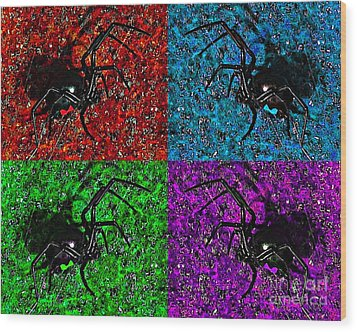 Scary Spider Serigraph Wood Print by Al Powell Photography USA