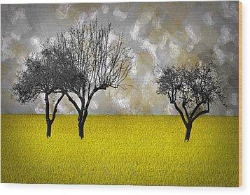 Scenery-art Landscape Wood Print by Melanie Viola