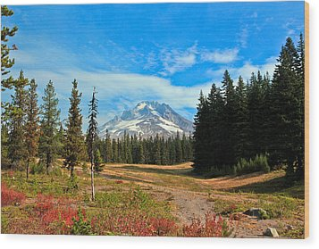 Scenic Mt. Hood In Oregon Wood Print by Athena Mckinzie