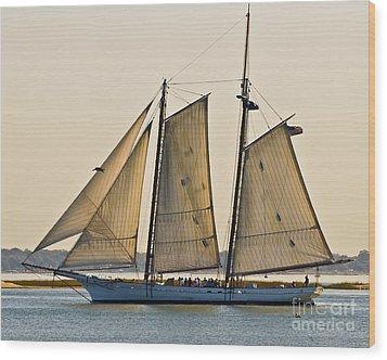 Scenic Schooner Wood Print by Al Powell Photography USA
