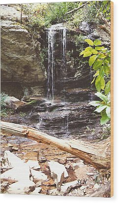 Scenic Waterfall Wood Print