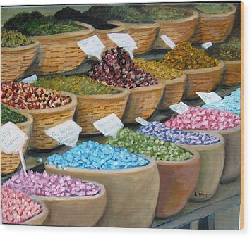 Scents For The Senses Wood Print by Laurie Morgan
