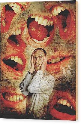 Schizophrenia Wood Print by Tim Vernon, Lth Nhs Trust