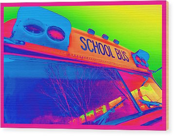 School Bus Wood Print by Gordon Dean II