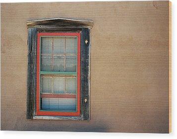 School House Window Wood Print