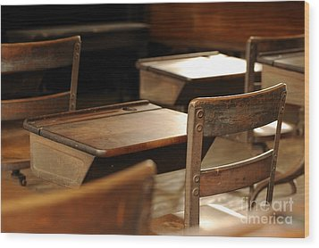 School Is Out Wood Print by Nancy Greenland