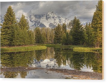 Schwabacher's Landing Wood Print by Charles Warren