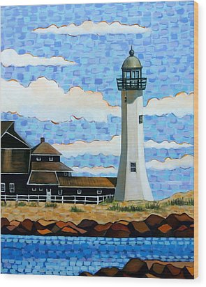 Scituate Light House Wood Print