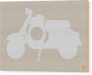 Scooter Brown Poster Wood Print by Naxart Studio