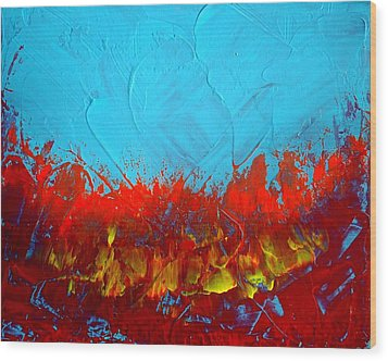 Scorched Wood Print by Holly Anderson