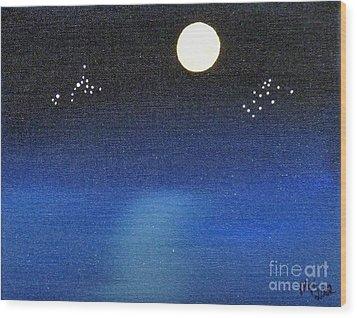Scorpio And Aquarius Wood Print by Alys Caviness-Gober