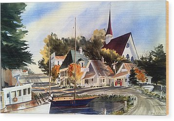 Scotia Princess ---annapolis N.s. Wood Print by Don F  Bradford