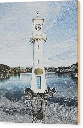 Wood Print featuring the photograph Scott Memorial Roath Park Cardiff 3 by Steve Purnell