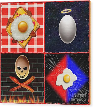 Scrambled Eggs Wood Print by Cristophers Dream Artistry