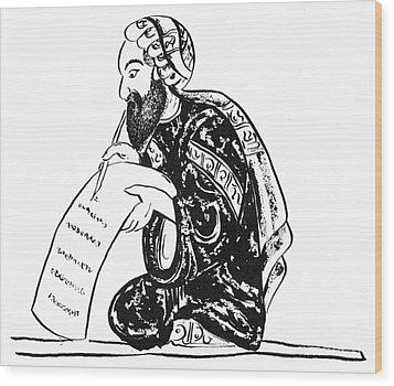 Scribe: Arab, 14th Century Wood Print by Granger