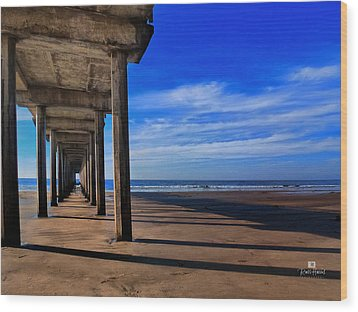 Scripps Pier Late Afternoon Wood Print by Russ Harris