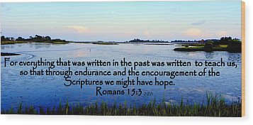Scripture For Hope Wood Print by Sheri McLeroy