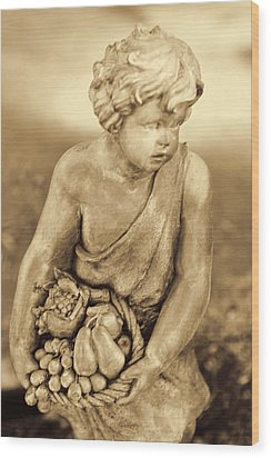 Sculpture In Sepia Wood Print by Linda Phelps
