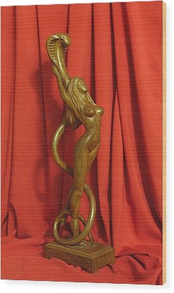 Sculpture Of Eve Wood Print by Goran