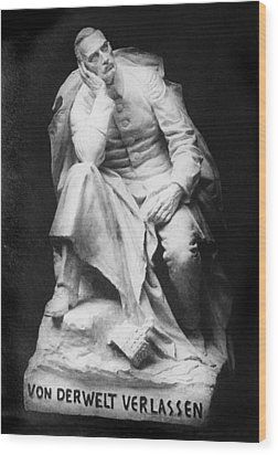 Sculpture Of Kaiser William II, Title Wood Print by Everett
