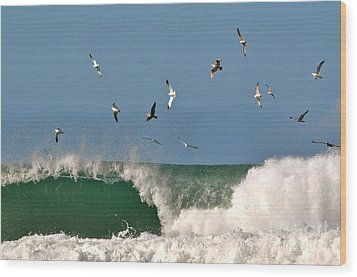 Wood Print featuring the photograph Sea And Spray by Johanne Peale