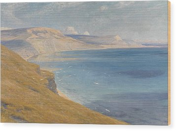 Sea And Sunshine   Lyme Regis Wood Print by Sir Frank Dicksee