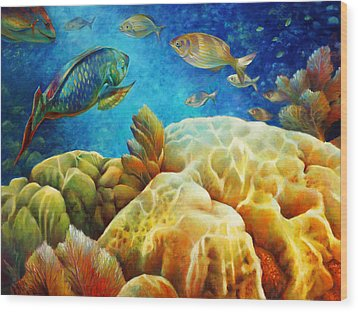 Sea Escape I - Color Queens Wood Print by Nancy Tilles