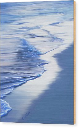 Sea Foam Wood Print by Suni Roveto