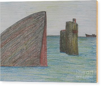 Sea Front Wood Print by Nedunseralathan R