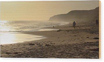 Sea In Sepia Wood Print by Heidi Smith
