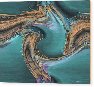 Sea Magic Wood Print