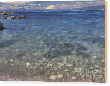Wood Print featuring the photograph Sea Side by Tad Kanazaki