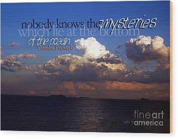 Wood Print featuring the photograph Sea The Mystery by Vicki Ferrari