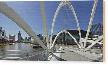 Seafarers Bridge Wood Print by Robert Lacy