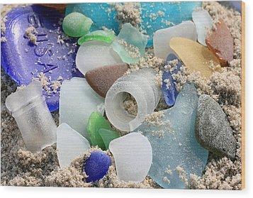 Seaglass Study IIi Wood Print by Mary Haber