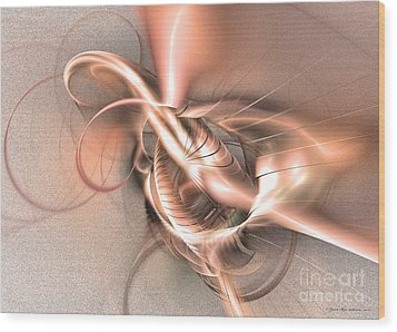Sealed Wood Print by Abstract fine art by Sipo