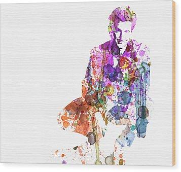 Sean Penn Wood Print by Naxart Studio