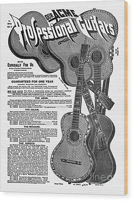 Sears Ad - Guitars 1902 Wood Print by Granger