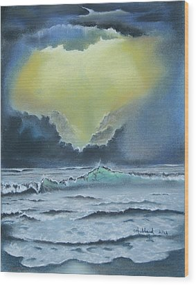 Seascape 2 Wood Print by Charles Hubbard