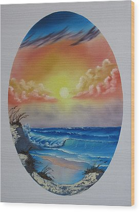 Seascape  Wood Print by Kevin Hill