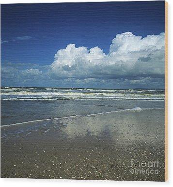Seascape.normandy.france Wood Print by Bernard Jaubert