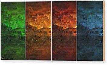 Seasons Change Wood Print by Lourry Legarde