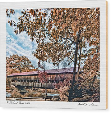 Wood Print featuring the photograph Seated For Autumn by Richard Bean