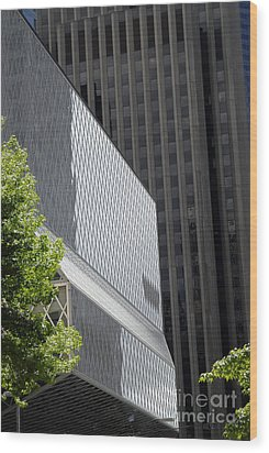 Seattle Central Library Wood Print by Ed Rooney