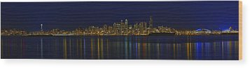 Seattle Moody Blues Wood Print