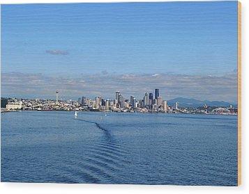 Seattle Skyline 3 Wood Print