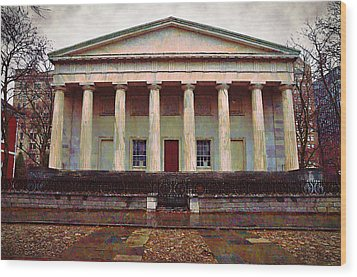 Second Bank Of The United States Philadelphia Pa Wood Print by Bill Cannon
