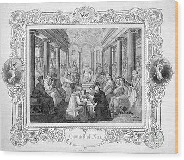 Second Council Of Nicaea Wood Print by Granger