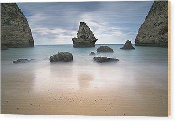Secret Beach Wood Print by Jorge  Fonseca
