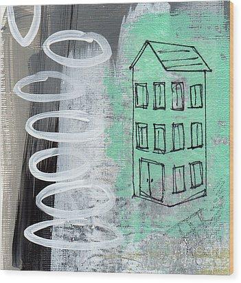 Secret Cottage Wood Print by Linda Woods